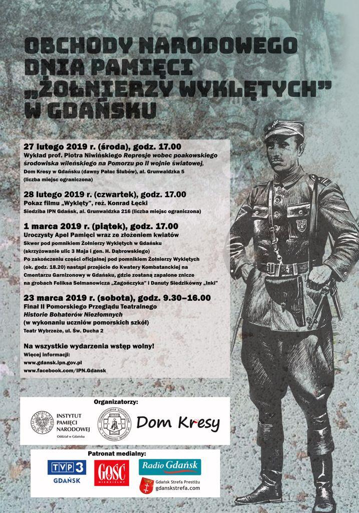 """Narodowy Dzień Pamięci """"Żołnierzy Wyklętych"""" - program"""