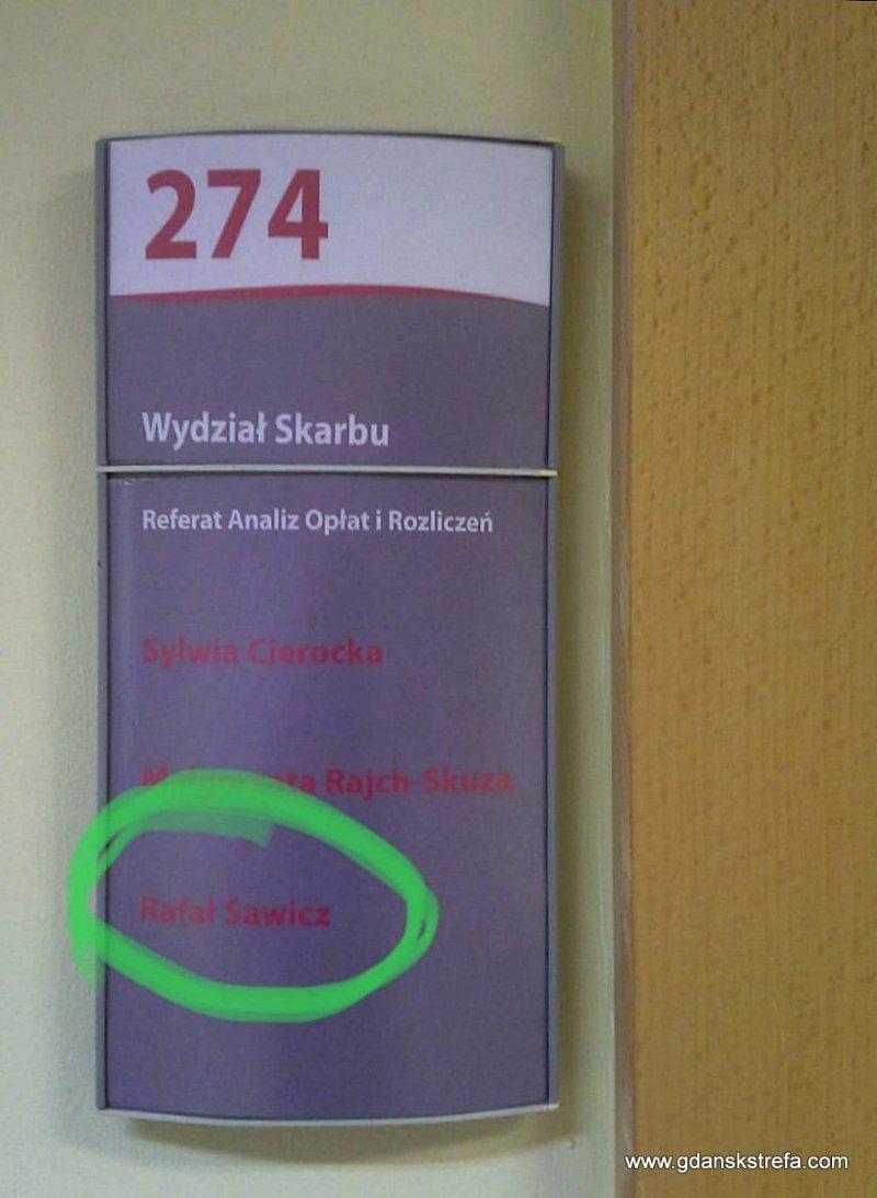 pokój 274 w Urzędzie Miasta Gdańska
