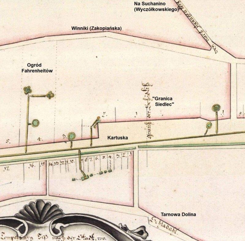 mapa Siedlec 1717