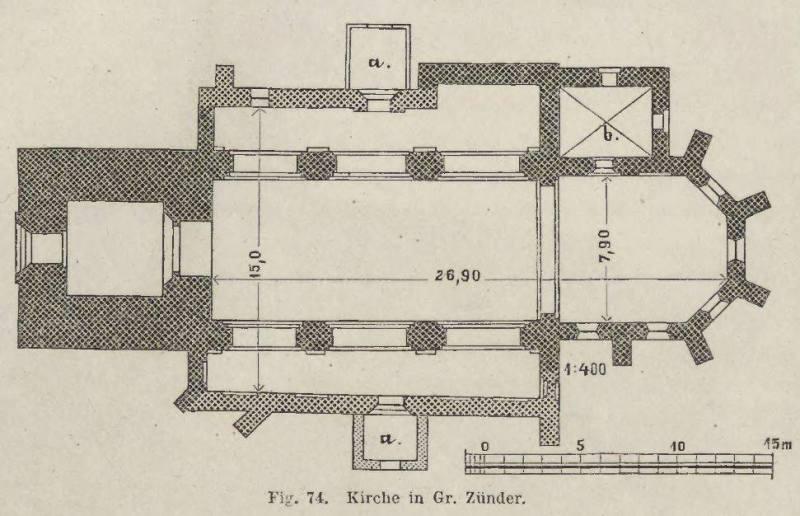 plan kościoła w Cedrach Wielkich