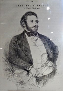 "Eduard Hildebrandt, reprodukcja z publikacji ""Studia w Berlinie"" - Max Ring 1859."