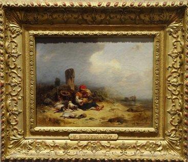 """Eduard Hildebrandt """"Dzieci z kotem na plaży"""""""