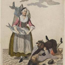 gdańscy wywoływacze - handlarka łososiami