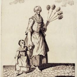 gdańscy wywoływacze - sprzedająca miotełki
