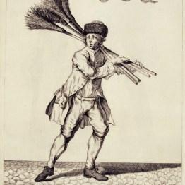 gdańscy wywoływacze - sprzedający miotły