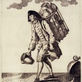 gdańscy wywoływacze - sprzedający naczynia