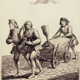 gdańscy wywoływacze - sprzedający piasek