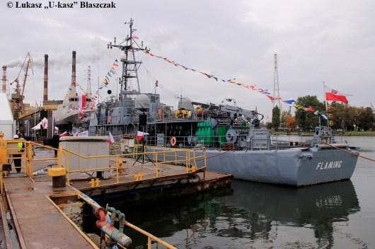 Niszczyciel min ORP FLAMING - jednostka, którą przyszły Albatros zastąpi w służbie.