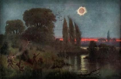 Zaćmienie Słońca. Obraz Wilhelma Kranza.