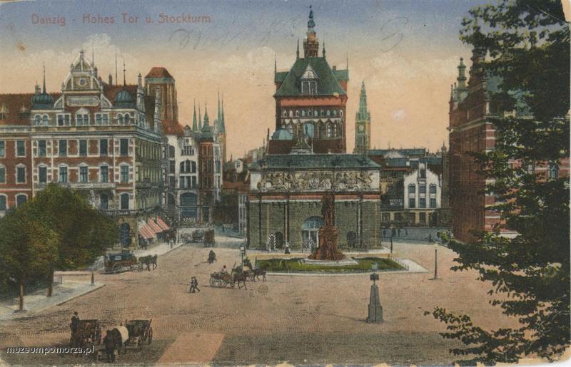 Gdańsk, Wały Jagiellońskie, Danzig Dominikswal (klikając w zdjęcie przeniesiesz się do muzeumpomorza.pl)
