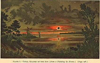 Zaćmienie Słońca w 1887 r. Obraz Wilhelma Kranza.