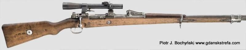 Karabin Mauser G98 – produkcji DANZIG 1916 z celownikiem optycznym marki Goerz 3x (fot. Hermann Historica)