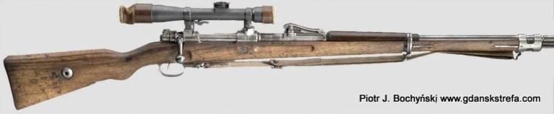Karabin Mauser G98 – produkcji DANZIG 1916 z celownikiem optycznym marki Goerz 4x (fot. Hermann Historica)