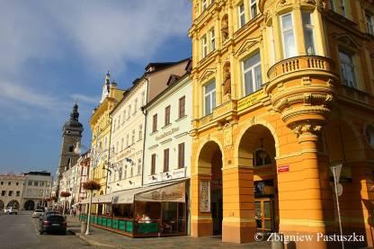 Kamienice przy rynku w Czeskich Budziejowicach