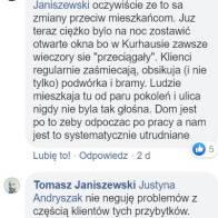 Wypowiedź Tomasza Janiszewskiego, radnego dzielnicy Wrzeszcz Dolny