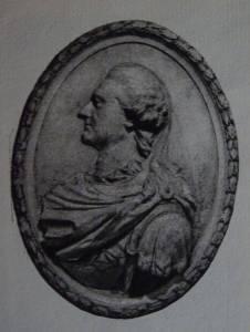 """A. Le Brun, medalion z popiersiem Stanisława Augusta Poniatowskiego. """"Klasycyzm w Polsce"""" St. Lorentz, A. Rottermund"""