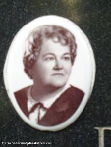 Zdjęcie z pomnika nagrobnego Gabrieli Poznańskiej