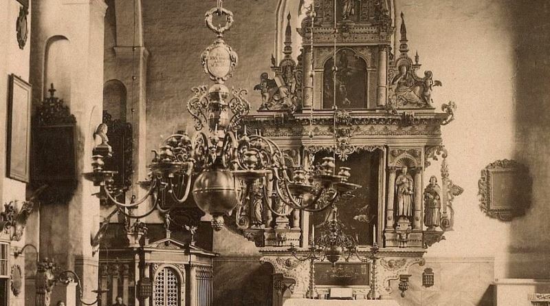 Przedwojenne wnętrze kościoła św. Bartłomieja