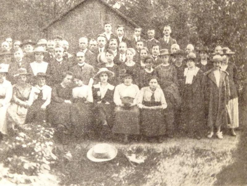 Uczestnicy polskiej manifestacji w Pilchowicach 13 V 1920 r.