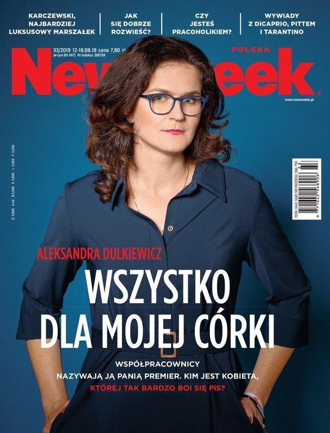 Okładka Newsweeka, w numerze wywiad z Aleksandrą Dulkiewicz opłaconym przez Miasto Gdańsk