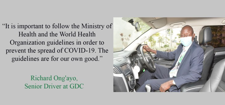 My role in preventing the spread of COVID -19 at the workplace – focus on our drivers