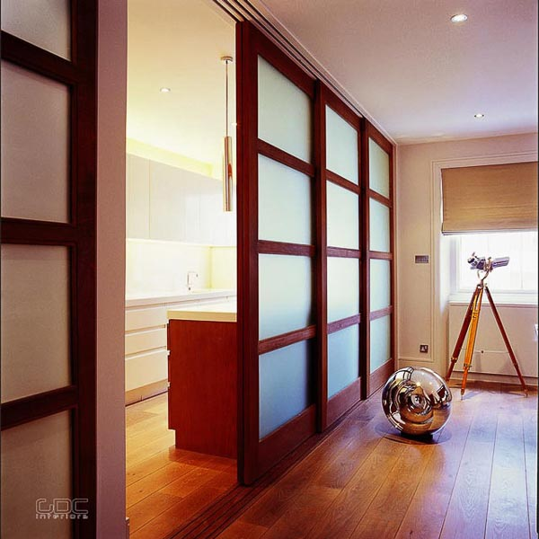modern contemporary home interior design services London penthouse by GDC interiors sliding doors