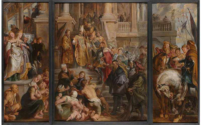 Rubens Oil sketch for altarpiece