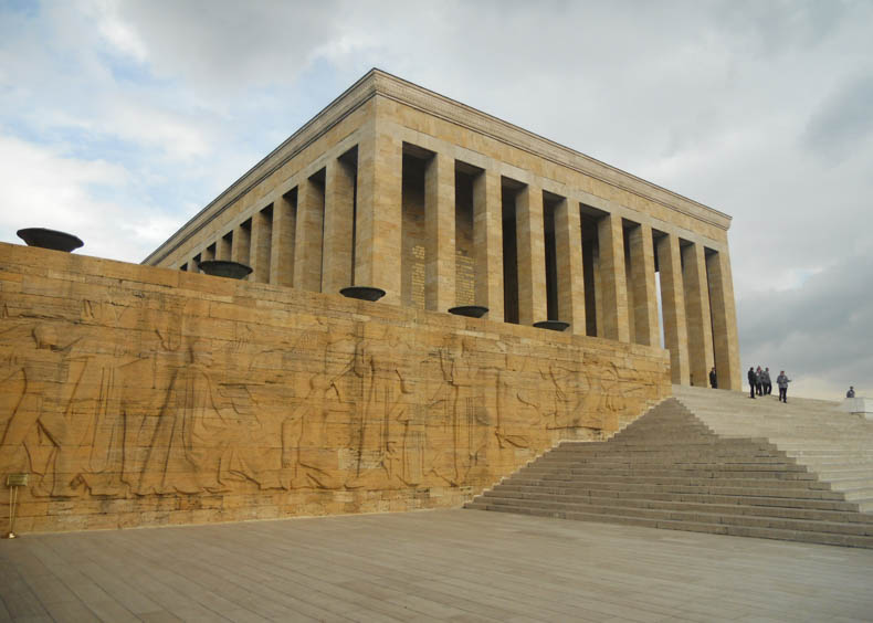 Ataturk mausoleum nort west wall Tombs of the Great Leaders