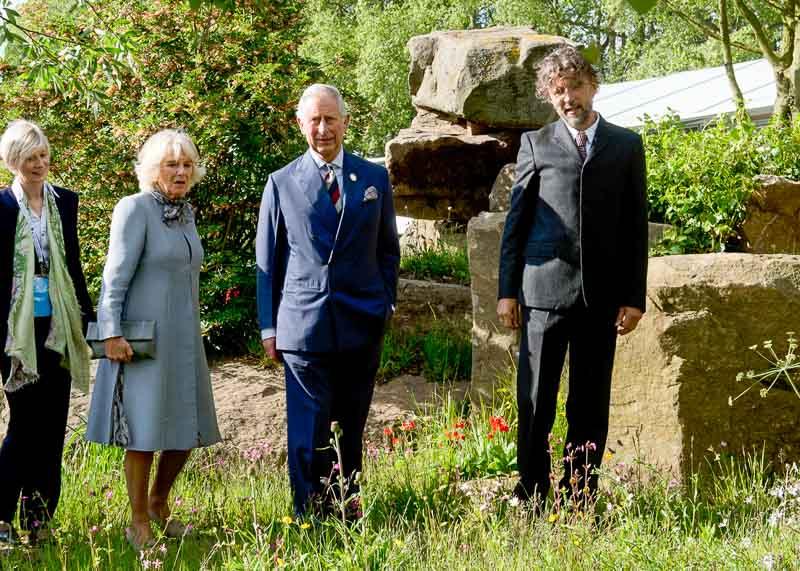 Dan Pearson Prince Charles RHS Chelsea Flower Show 2015