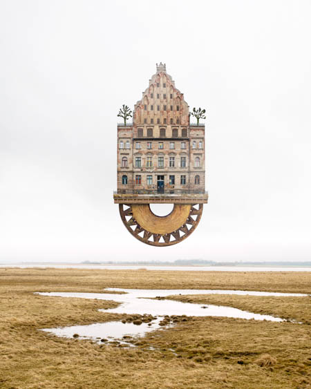 Collages of Matthias Jung Expedition to the East Pole