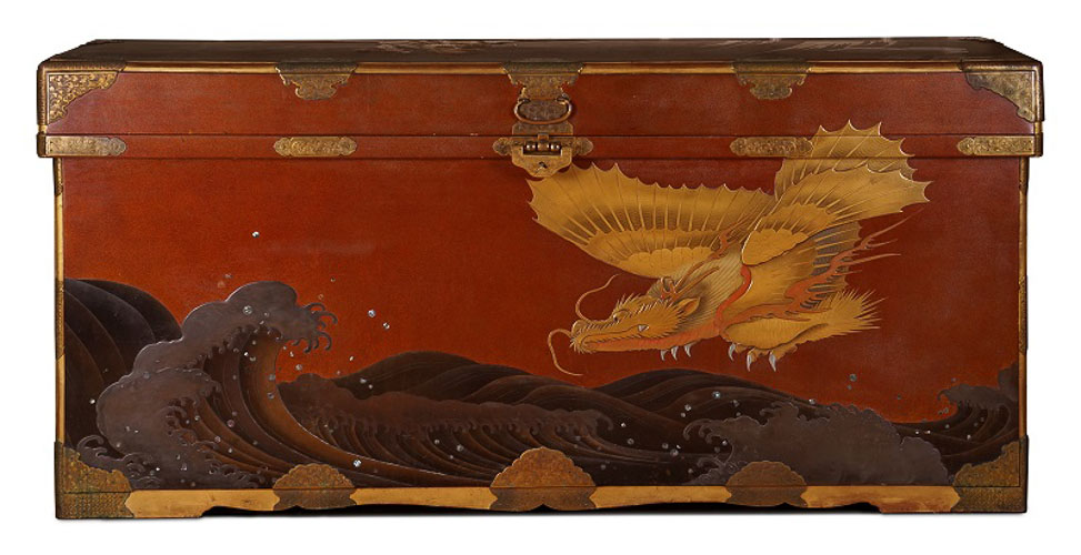 Japanese Red Lacquer Coffer masterpiece london 2015 ANTHONY OUTRED