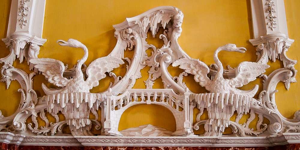Claydon House in Buckinghamshire rococo plasterwork chinoiserie detail