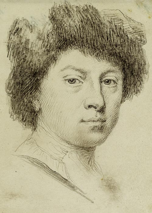 Jonathan Richardson Self-portrait as a poet 1735