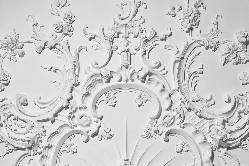 rococo plasterwork ceiling detail