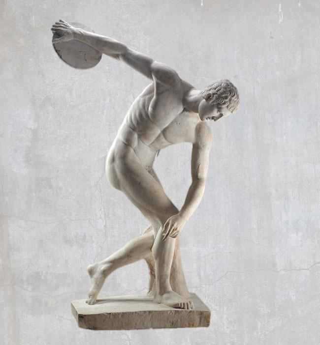 marble statue of Discobolus roman copy British Museum