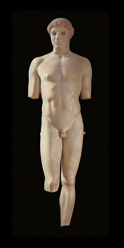 ancient greek art marble from paros kritios boy 480BC athens