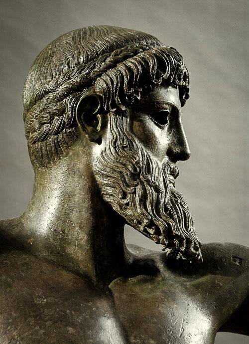ancient Greek Art bronze sculpture of Zeus or Poseidon