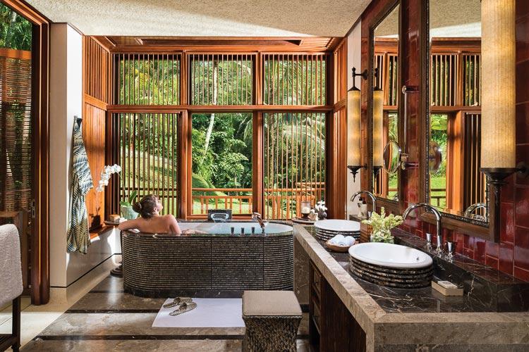 Villa bathroom at Four Seasons Bali at Sayan