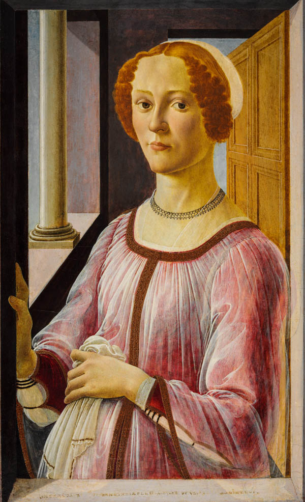 Portrait of a Lady known as Smeralda Bandinelli by Sandro Botticelli Victoria and Albert Museum London Botticelli Reimagined