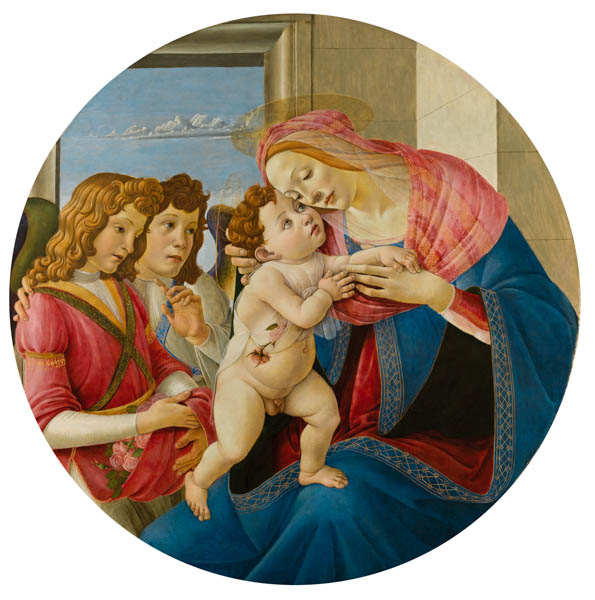 The Virgin and Child with Two Angels by Sandro Botticelli Victoria and Albert Museum London Botticelli Reimagined