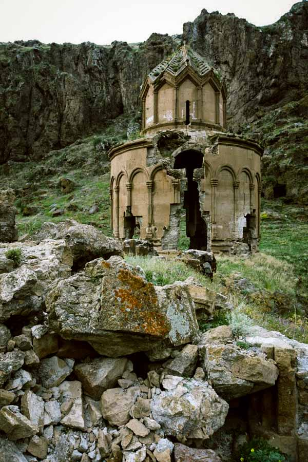 Only the Church of St Sergius remains of the 7th- 11th century Armenian monastery of Khitzkonk in Eastern Turkey.