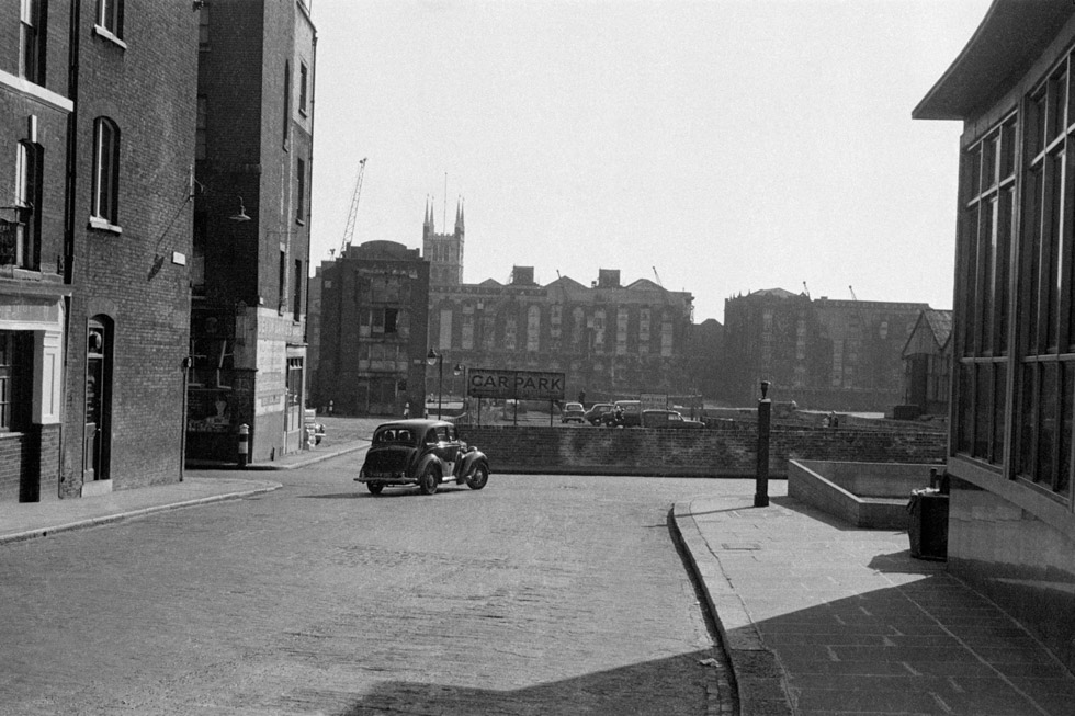 Junction of Arthur Street and Upper Thames Street, 1956 Photograph by Colin O'Brien How London Has Changed