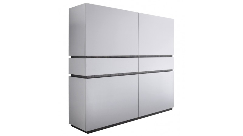 blanc mat 4 portes 2 tiroirs ivo
