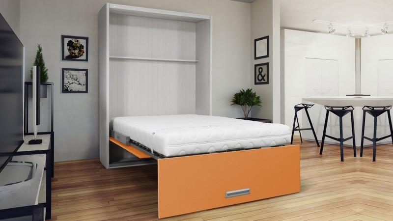 lit vertical escamotable moderne avec