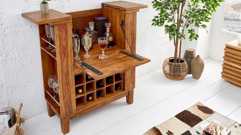 mini bar design en bois de palissandre