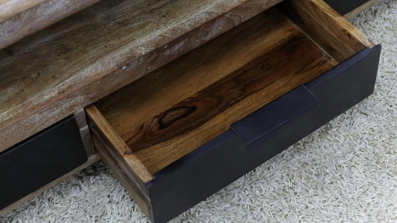 tv design industriel en bois massif