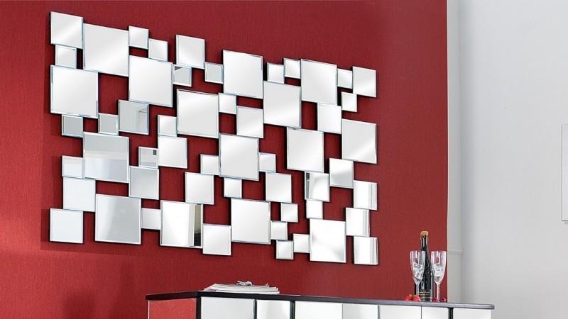 miroir mural design rectangulaire a