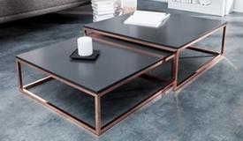 table basse gigogne cuivre et anthracite wim
