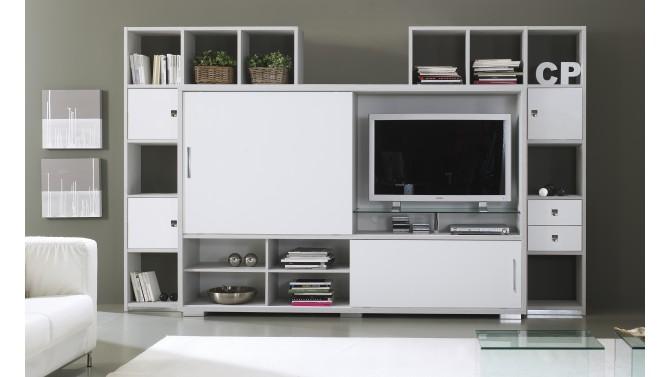 Mur TV Design De Salon Avec Rangements Split GdeGdesign