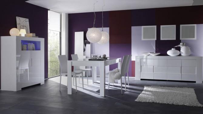 salle a manger design complete konrad laquee blanche gdegdesign